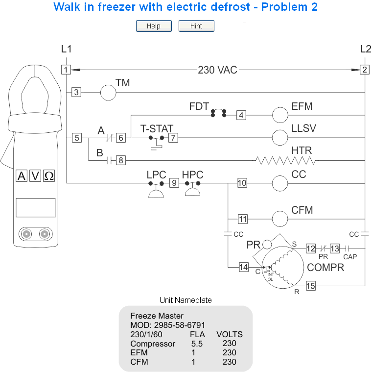 Refrigeration basics troubleshooting board title of the for Walk in freezer motor